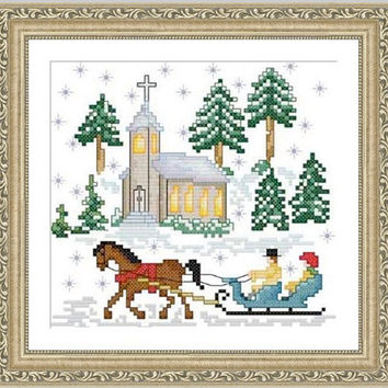 Winter - PDF Cross Stitch Pattern - INSTANT DOWNLOAD