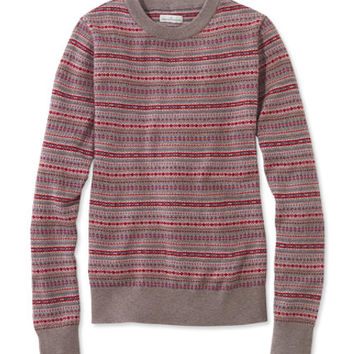 Women's Signature Merino Crewneck Sweater, Fair Isle | Free Shipping at L.L.Bean