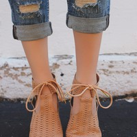 Something Divine Booties - Toffee