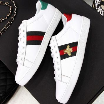 GUCCI 2018 new men and women fashion high-quality sports shoes F