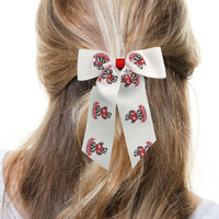 Wisconsin Badgers Cheer Ponytail Hair Bow