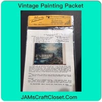 Vintage Painting Packet #18 New England Covered Bridge