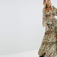 Sacred Hawk Wrap Front Maxi Skirt In Dandelion Print Co-Ord at asos.com