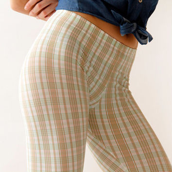 Plaid and Stripes Retro Leggings