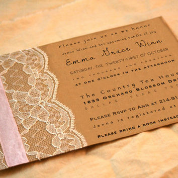 vintage baby shower invitation girl vintage style birthday party invitations pink lace
