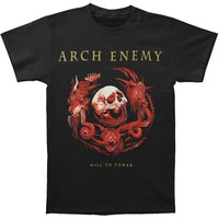 Arch Enemy Men's  Will To Power Tour-2017 T-shirt Black
