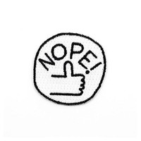 Nope! Hand Mini Sticker Patch