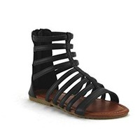 Girl's Pipper-65 Tall Ankle High Caged Gladiator Zipped Fashion Sandals