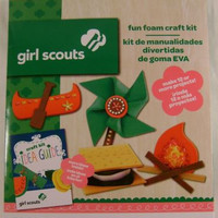 Lot 3 Girl Scout Fun Foam Craft Kit Idea Guide Projects Colorbok Crystals Gift