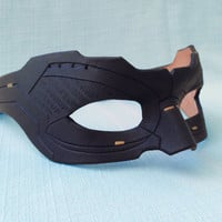Made To Order:  Leather Catwoman Mask, The Dark Knight Rises - Super Hero - Villain - Cosplay