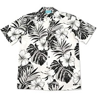waikiki white hawaiian cotton shirt