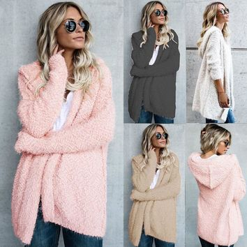 Women Cardigan Loose Sweater Long Sleeve Knitted Cardigan Outwear Autumn New Fashion Women Clothes Long Sweaters