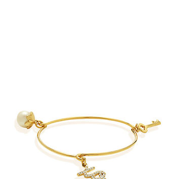 Kate Spade Friendship Key Charm Bangle Cream/Multi ONE