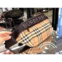 Burberry 2019 new men and women models color matching logo pockets chest bag Messenger bag #2
