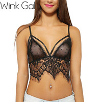 Black Lingerie Lace Up Bralette Nightwear