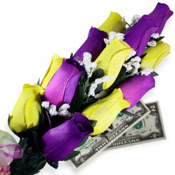 Purple & Yellow Bouquet | Cash Roses®