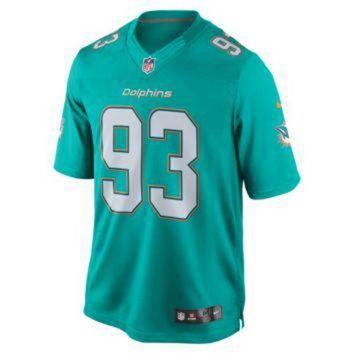 CREYON Nike NFL Miami Dolphins (Ndamukong Suh) Men's Football Home Limited Jersey
