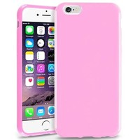 "Insten Light Pink Jelly TPU Slim Skin Gel Rubber Cover Case For Apple iPhone 6 4.7"" Inches - Walmart.com"