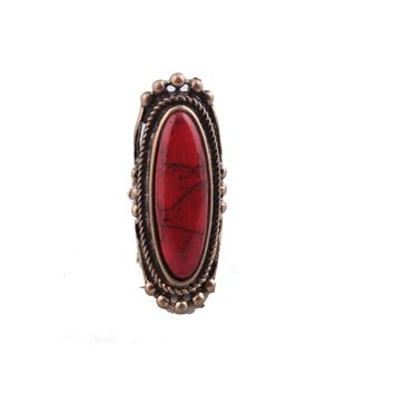 Fashion Red Stone Ring For Women