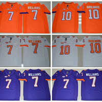 Clemson Tigers 7 Mike Williams College Jerseys Sale Men Orange Purple Color Football 10 Tajh Boyd Jersey Cheap All Stitched Best Quality