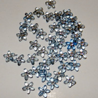 Light Blue Flower Beads