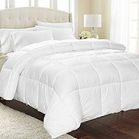 Lightweight Comforter, Ultra Soft Down Alternative (White, Twin) - All Season Comforter - Plush Siliconized Fiberfill Duvet Insert - Box Stitched- by Utopia Bedding