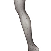 Sheer Pinspot Tights - Tights & Socks - Clothing - Topshop USA
