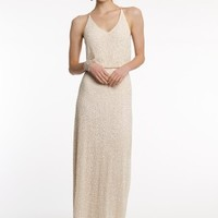 Sequin Flowy Dress With Open Back