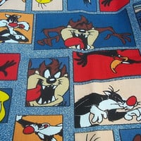 LOONEY TUNES FABRIC / Five Feet By Three feet / Cotton