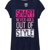 SMART GRAPHIC TEE | GIRLS CLOTHES NEW ARRIVALS | SHOP JUSTICE