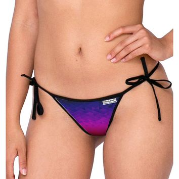 Geometric Gradient AOP Swimsuit Bikini Bottom All Over Print by TooLoud
