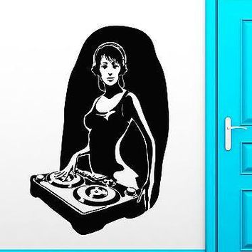 Wall Stickers Vinyl Decal Hot Sexy Girl DJ Music Nightclub Sound Party Unique Gift (ig1798)