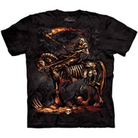 SCYTHE The Mountain Grim Reaper Dark Horse Angel Death Metal T-Shirt S-3XL NEW