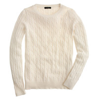 J.Crew Womens Cambridge Cable Crewneck Sweater
