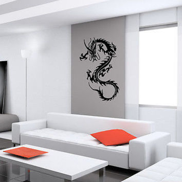 WALL VIINYL STICKER DECAL ART MURAL CHINESE FAIRYTALE DRAGON CUTE DESIGN K411