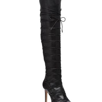 Vince Camuto Kesta Over The Knee Lace Up Peep Toe Boots | Dillards
