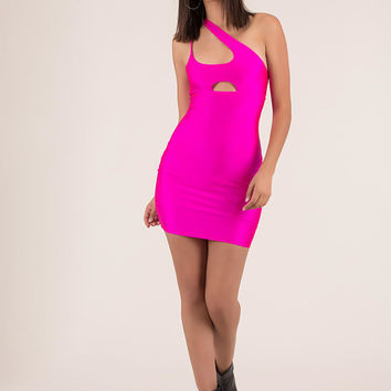 Who Needs Symmetry Cut-Out Minidress