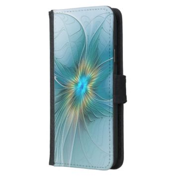 The little Beauty, Abstract Fractal Art with blue Samsung Galaxy S5 Wallet Case