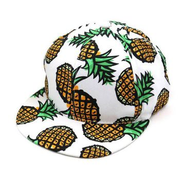 DCCKHY9 New Design Pineapple Snapback Bboy Hat Adjustable Baseball Cap Hip-hop Hat Unisex J01