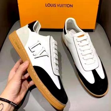 Free Shipping-LV Flat Casual Sneakers