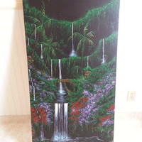 Surf Art Tropical Island Original Artwork Canvas Acrylic Painting