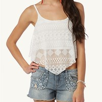 Tribal Lace Crop Swing Cami