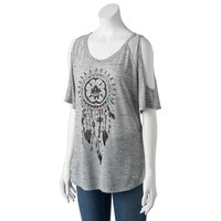 Mudd Cold-Shoulder Tee - Juniors, Size: