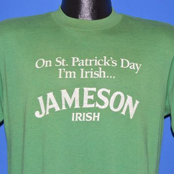 80s Jameson Irish Whiskey St. Patty's Day t-shirt Large