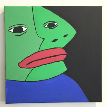 Hand Painted Picasso Pepe