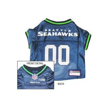 Pets First Seattle Seahawks NFL Dog Jersey - Small