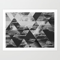 Abstract Sea Art Print by Cafelab