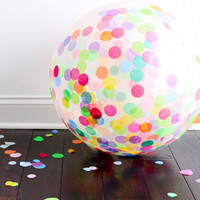 Shop Sweet Lulu - Jumbo Confetti Balloon: Multicolor
