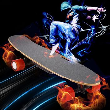 Remote Skateboard Penny Board with Electric Controller 7-ply Rock Hard Maple Deck With Kick Tail