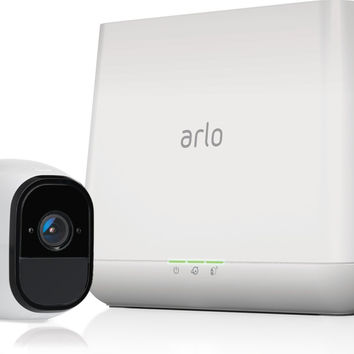 Arlo Pro Security System with Siren  1 Rechargeable Wire-Free HD Camera with Audio Indoor/Outdoor Night Vision  (VMS4130) 1 Camera Kit